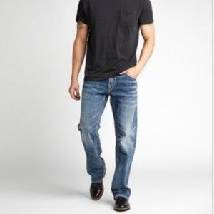 NEW!  SILVER- ZAC Relaxed Straight Leg Jean